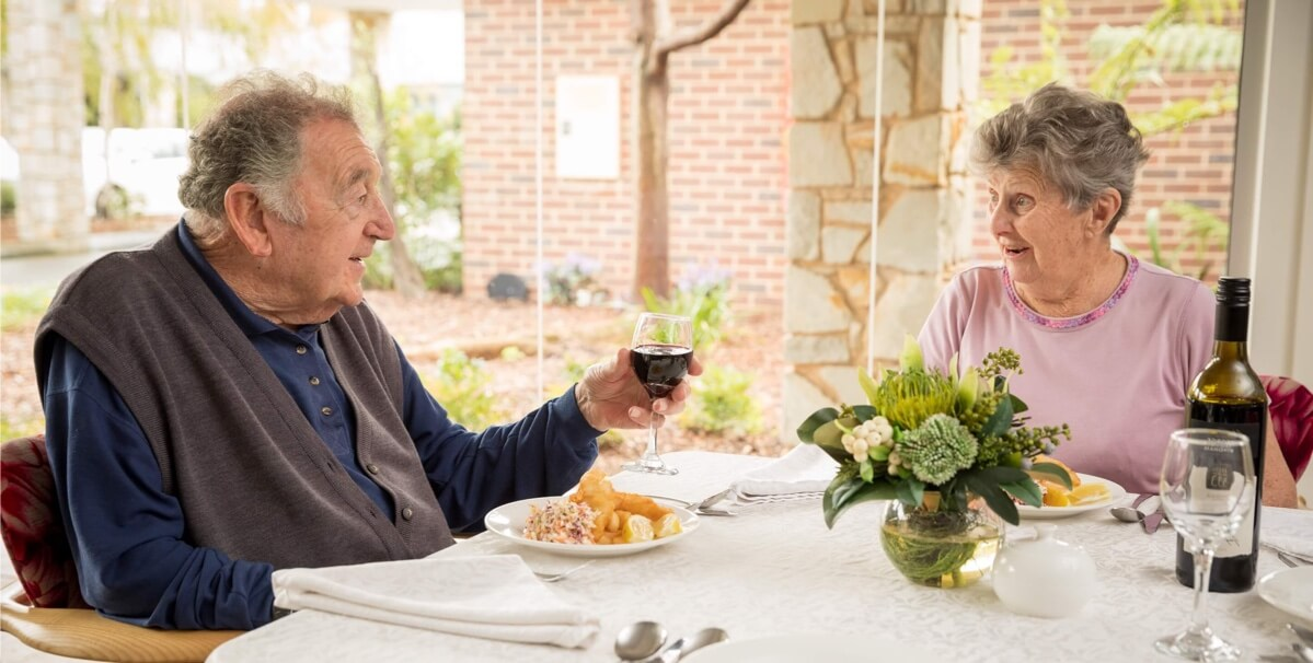 Residents dining at Opal