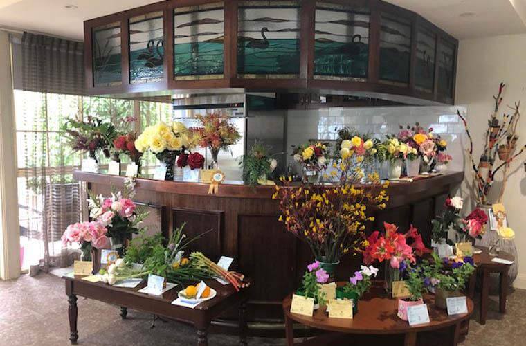 Flower display at Sale Gardens show