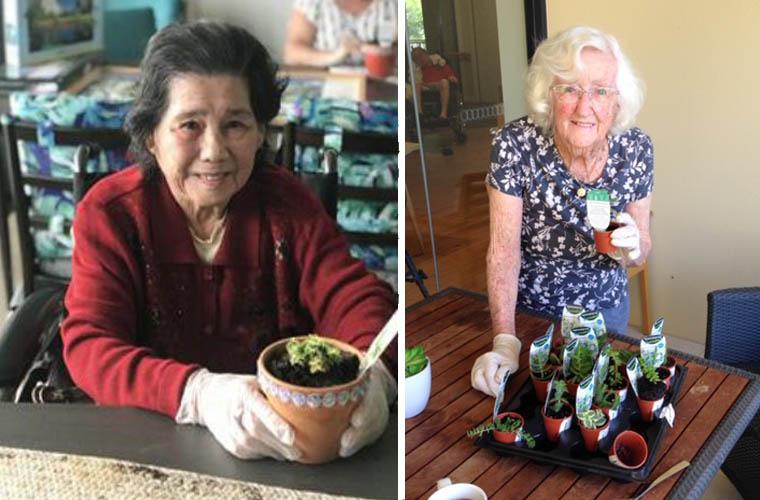 Betty Gardening