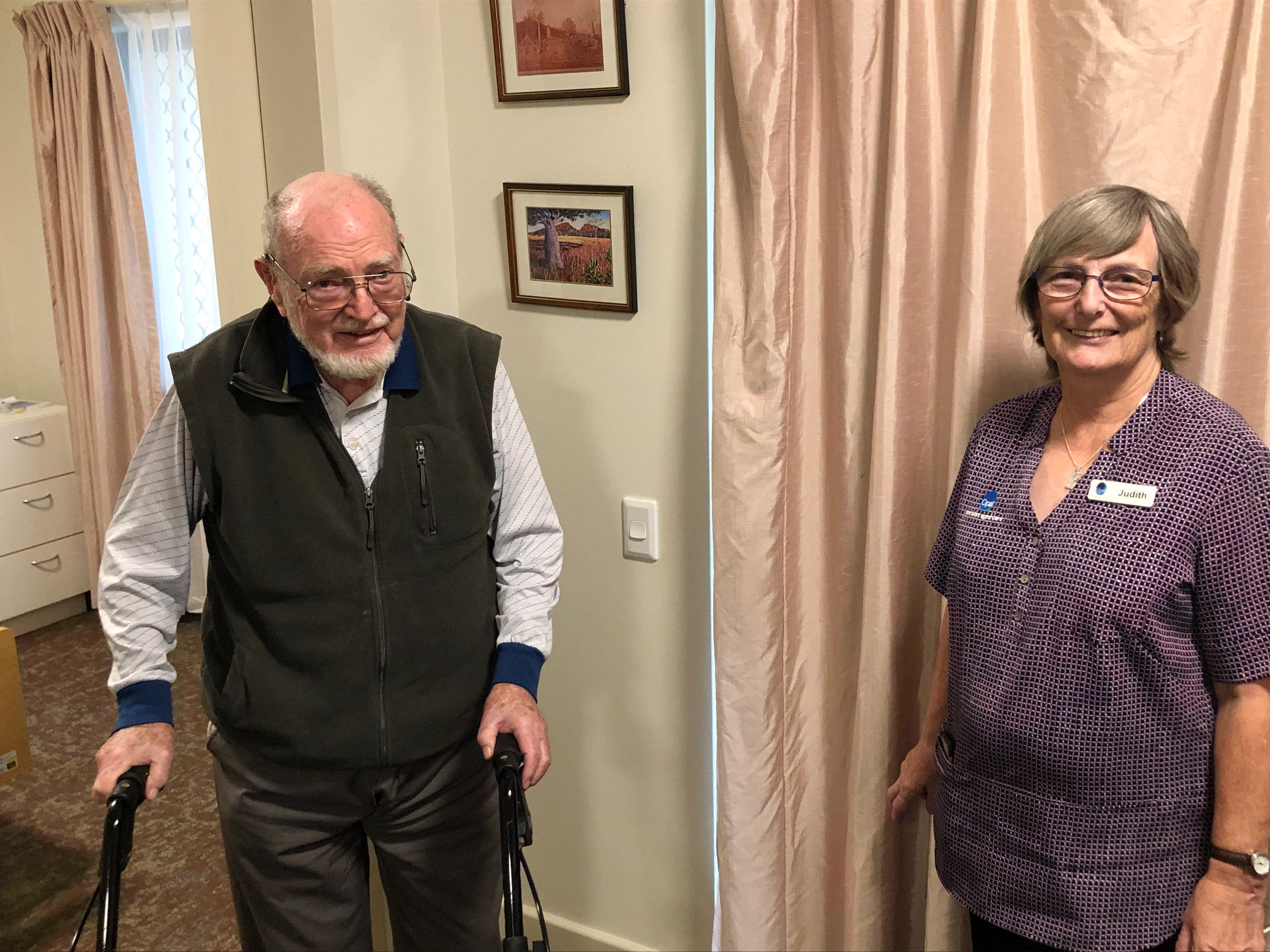 Resident tells carer he has found paradise