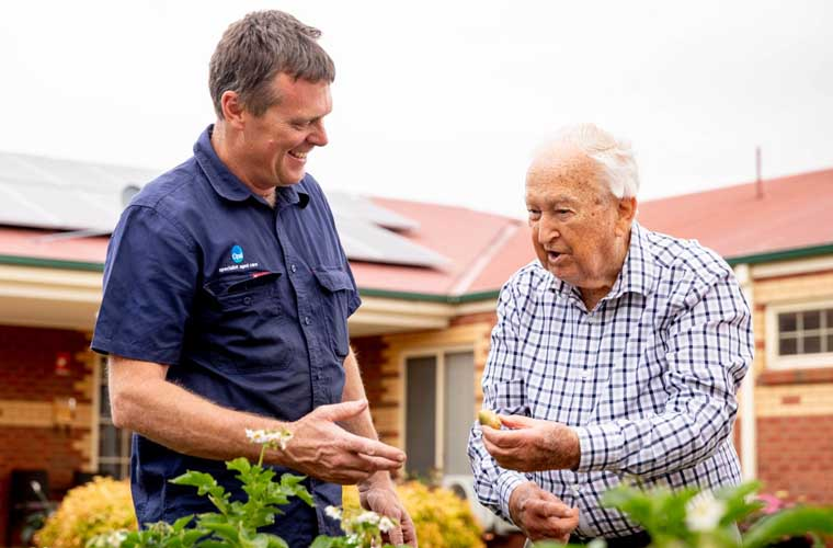 Gardening at Sale Gardens Care Community