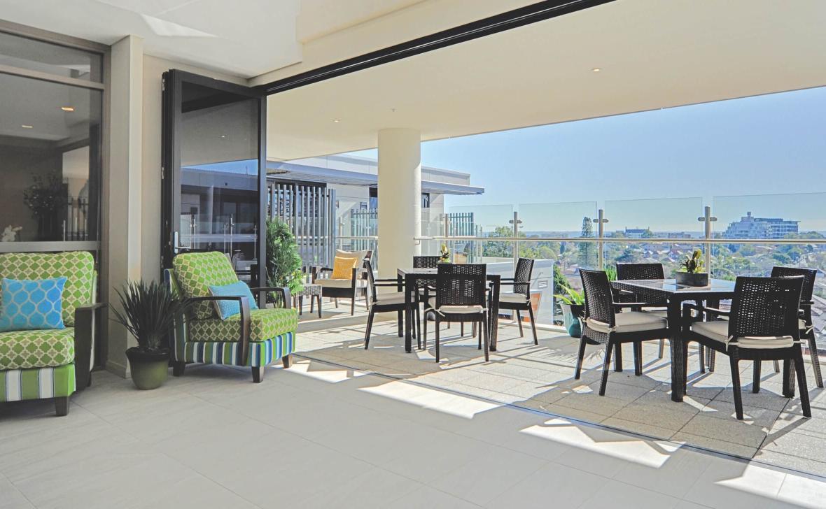 Ashfield Terrace seating