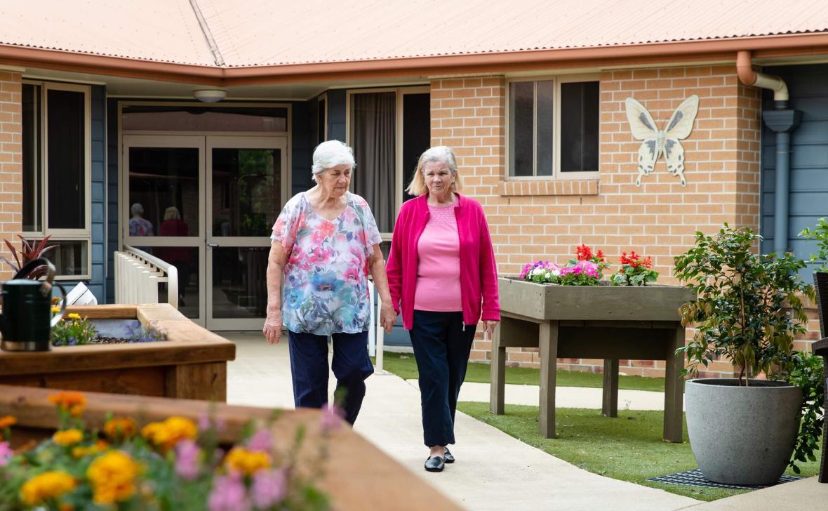 Carseldine Greens residents walking