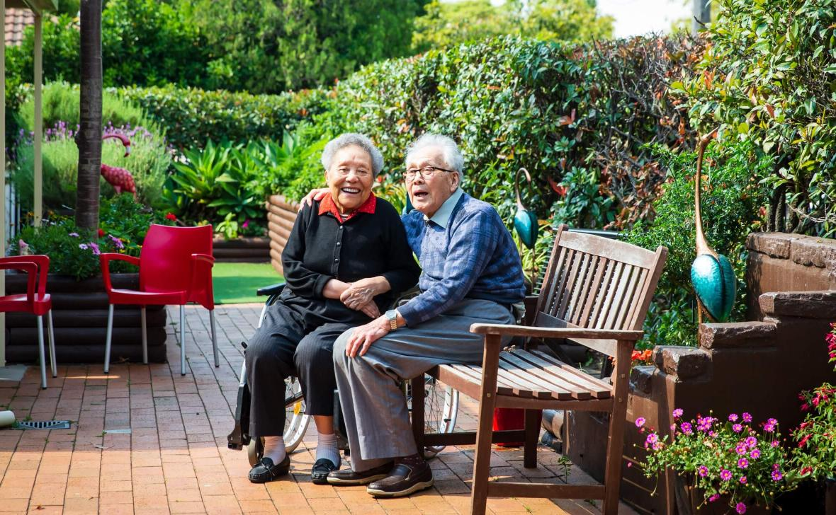 Belmore Place residents in garden