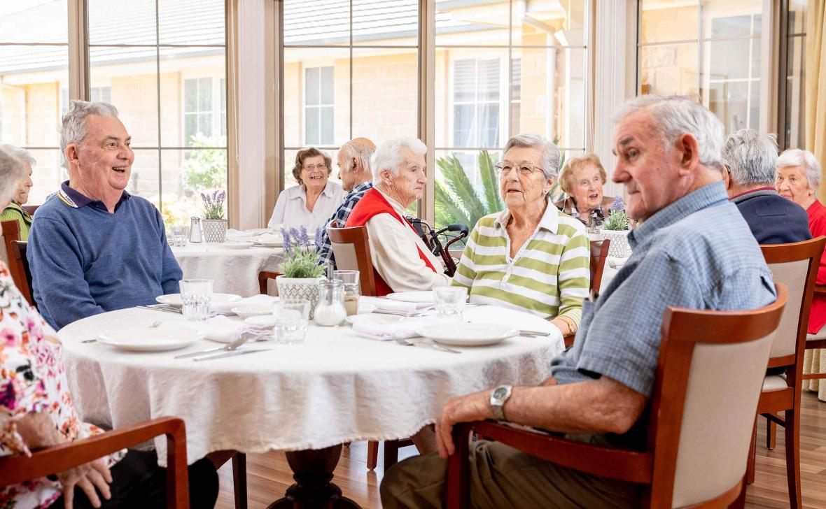 Paynesville Gardens Residents in Dining room
