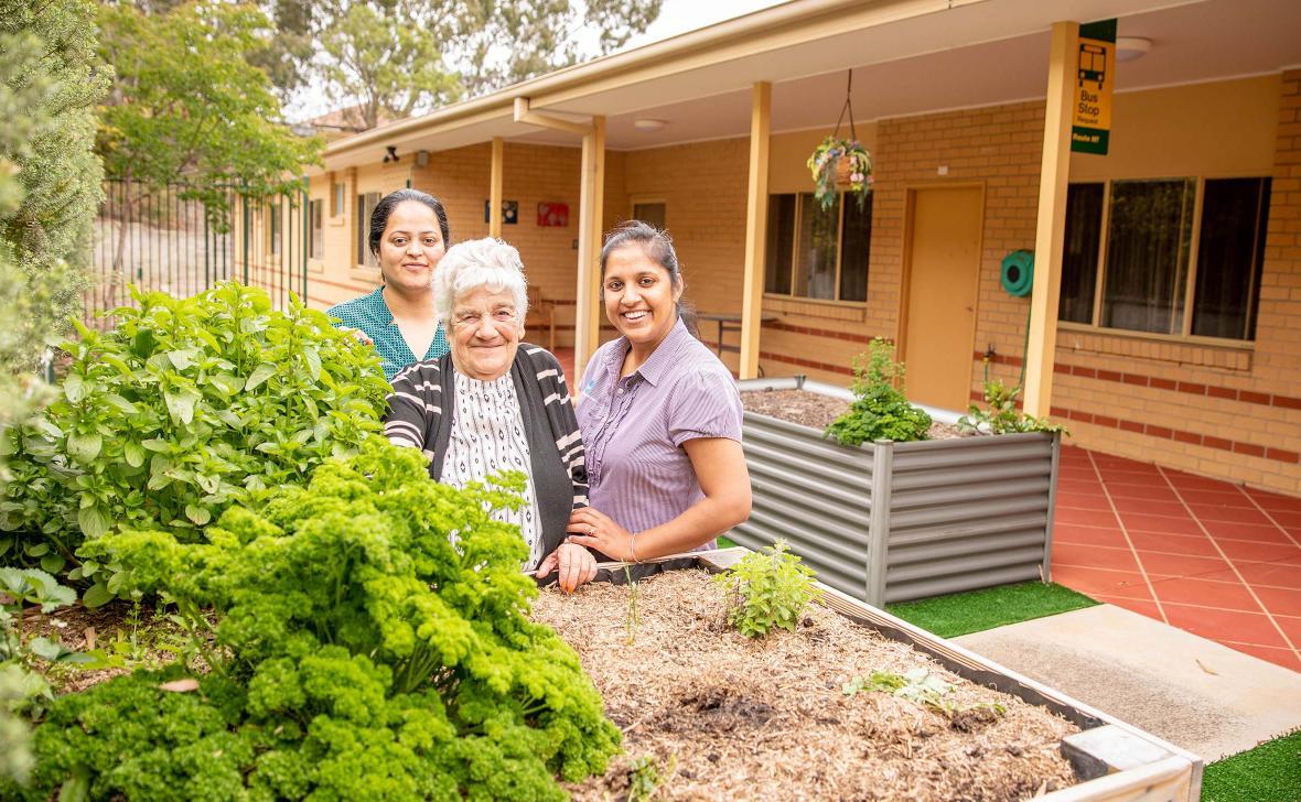 Herb Garden team and resident
