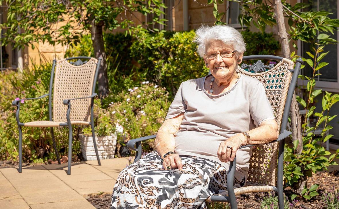 Paynesville Gardens Lady in Garden