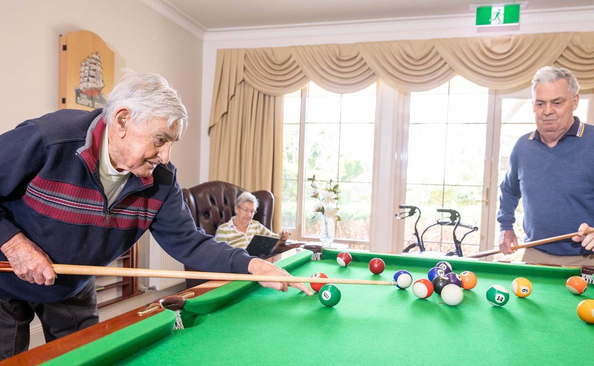 Paynesville Gardens Playing Snooker